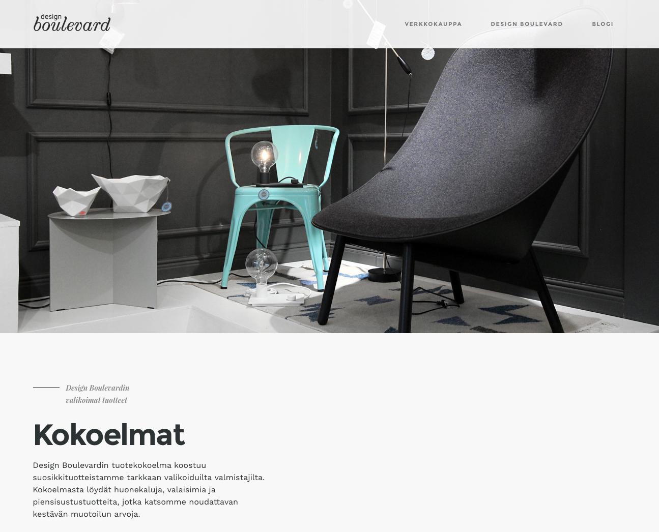 Design Boulevard nettisivu ja blogi