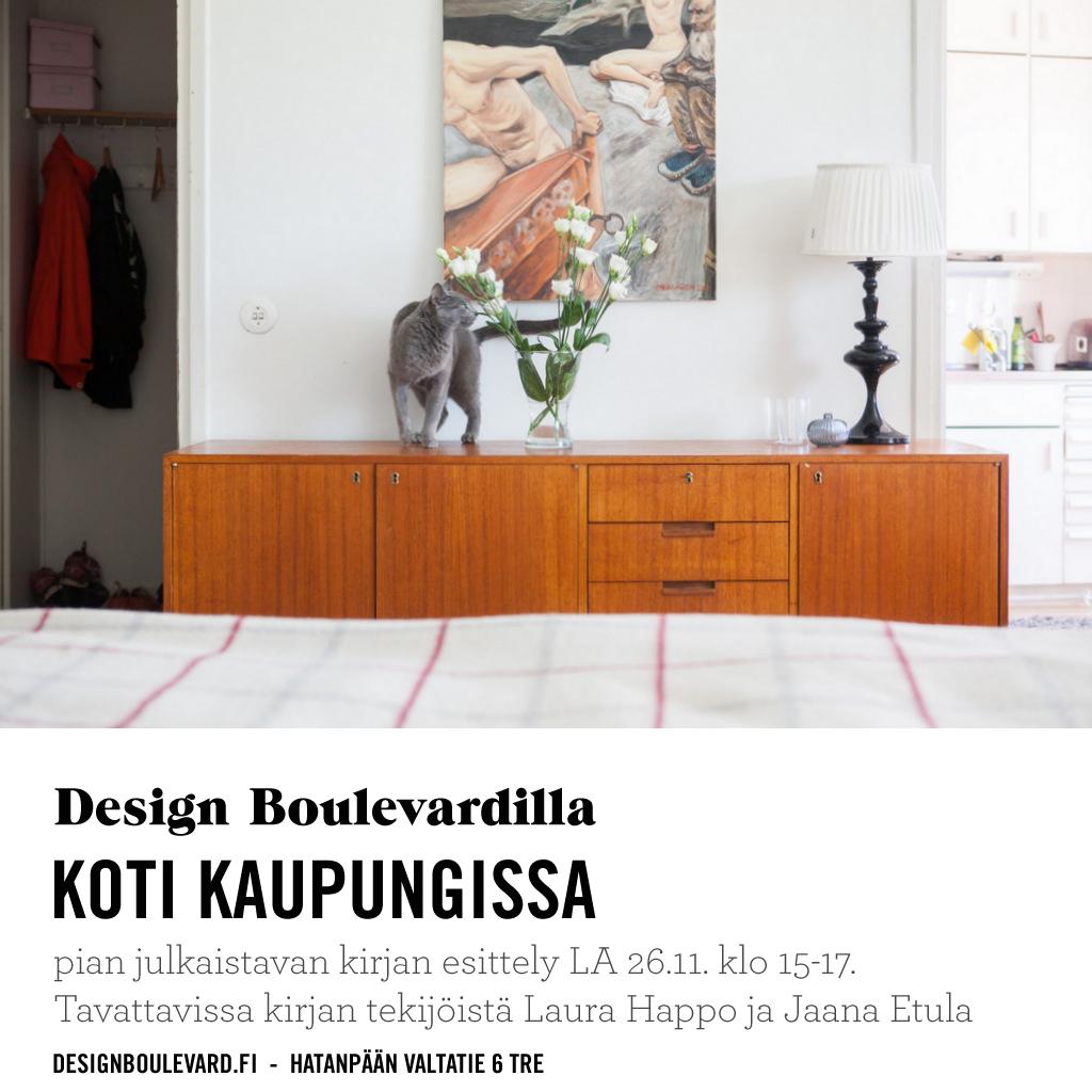 Koti kaupungissa kirjan esittely Design Boulevard sisustuskirja