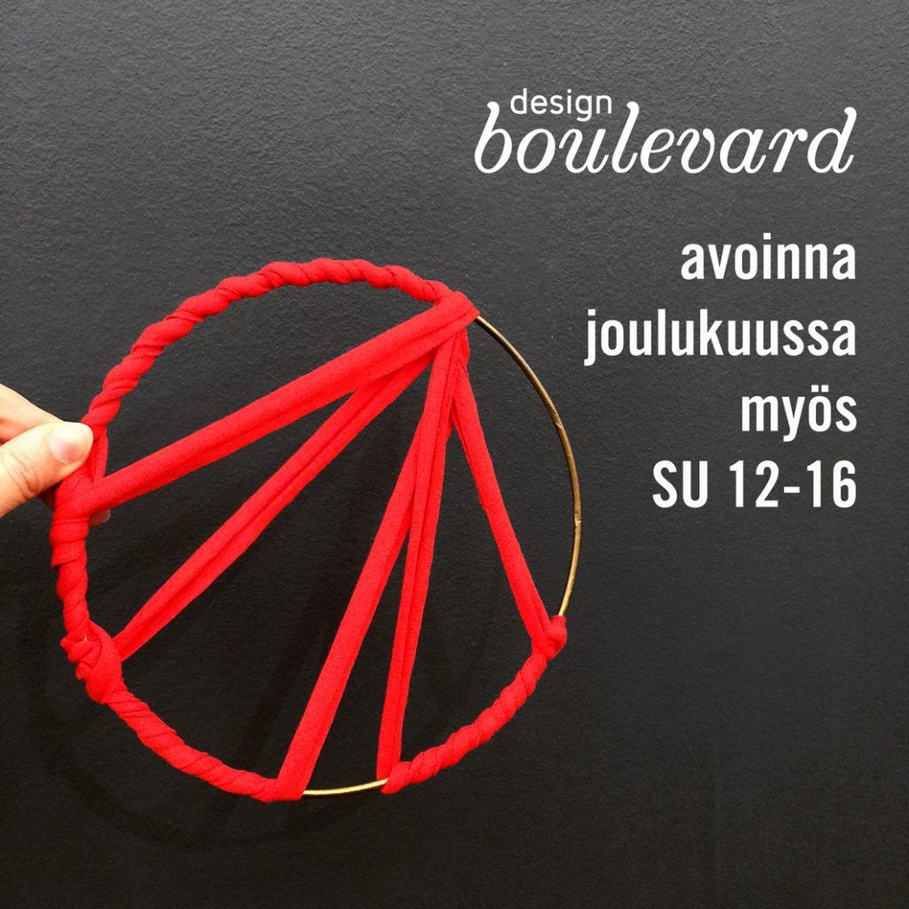Design Boulevard avoinna joulukuussa sunnuntaisin klo 12-16.