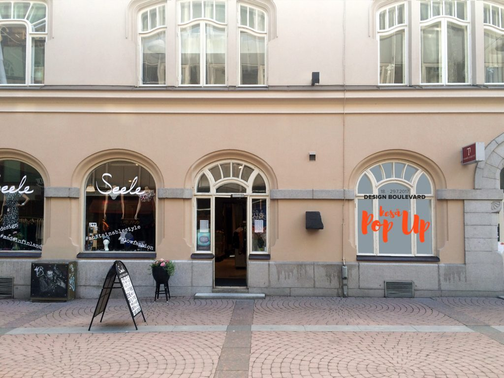 design kauppa Kesä Pop up Aleksis Kiven kadulla